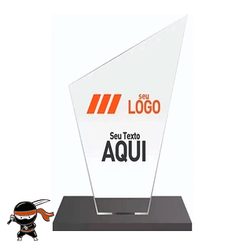 Troféu vidro personalizado