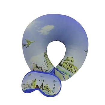 Almofada de Pescoço e Tapa Olho Personalizado