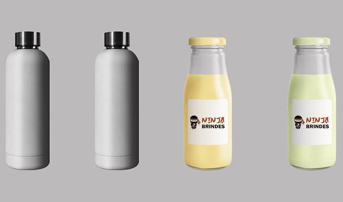 garrafa e squeeze