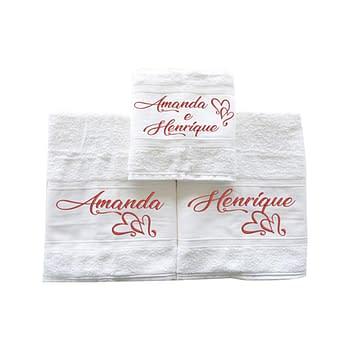Toalhas de Banho Personalizadas para Casal