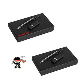 Kit Caneta e Pen Drive